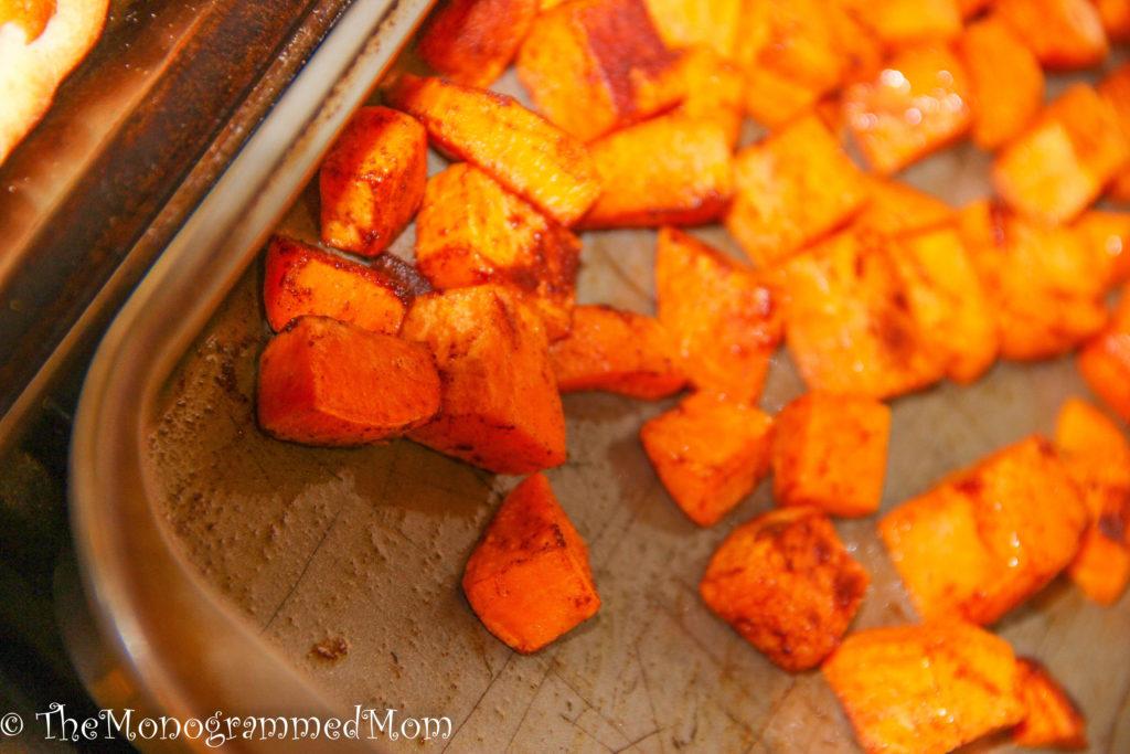 Cinnamon Roasted Sweet Potatoes {Whole30} {Paleo}