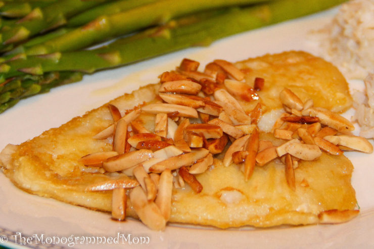 Cod Almondine {Whole30} {Paleo} {Gluten-free}
