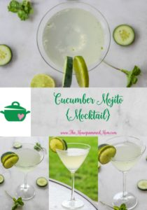Cucumber Mojito {Mocktail} {Whole30} {Vegan}