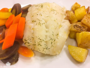Baked Dill Cod Fillet {Whole30} {Paleo}