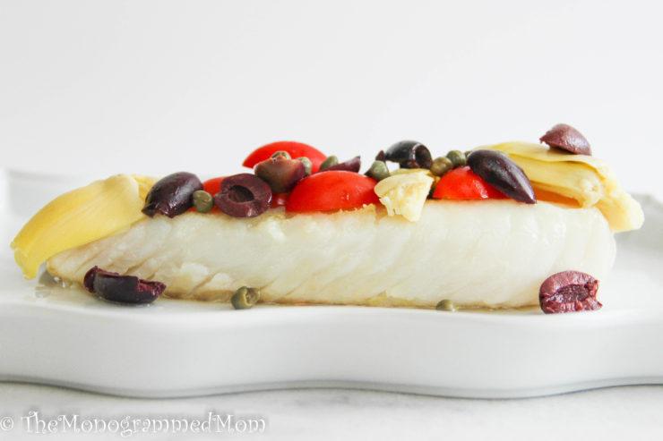 Pan-Seared Greek Cod {Whole30} {Paleo}