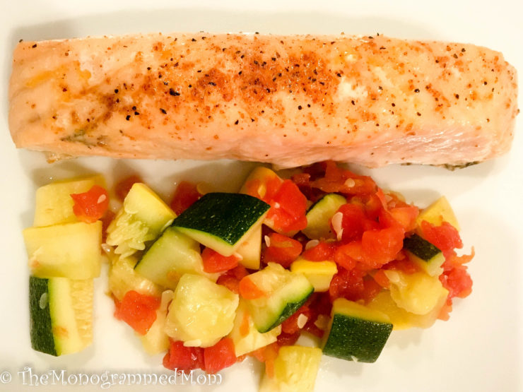 Simple Salmon with Southwestern Veggies {Whole30} {Paleo}