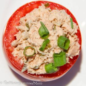 Tuna Salad Stuffed Tomatoes {Whole30} {Paleo}