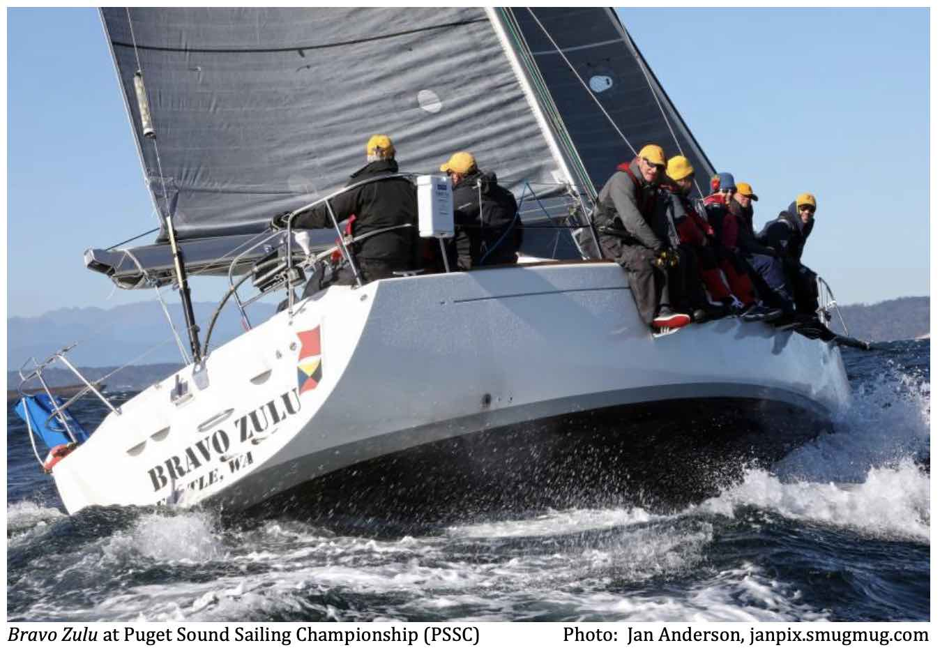 Raced on Bravo Zulu (Beneteau 40).  CYC Seattle Boat of the Year