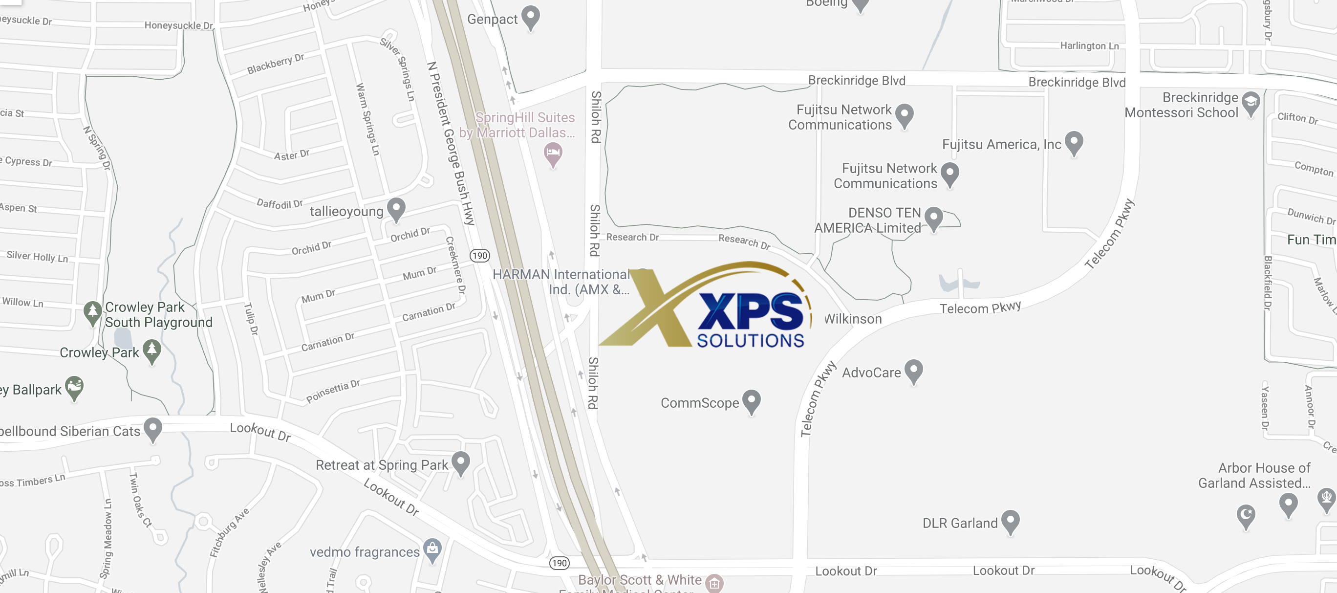 XPS map