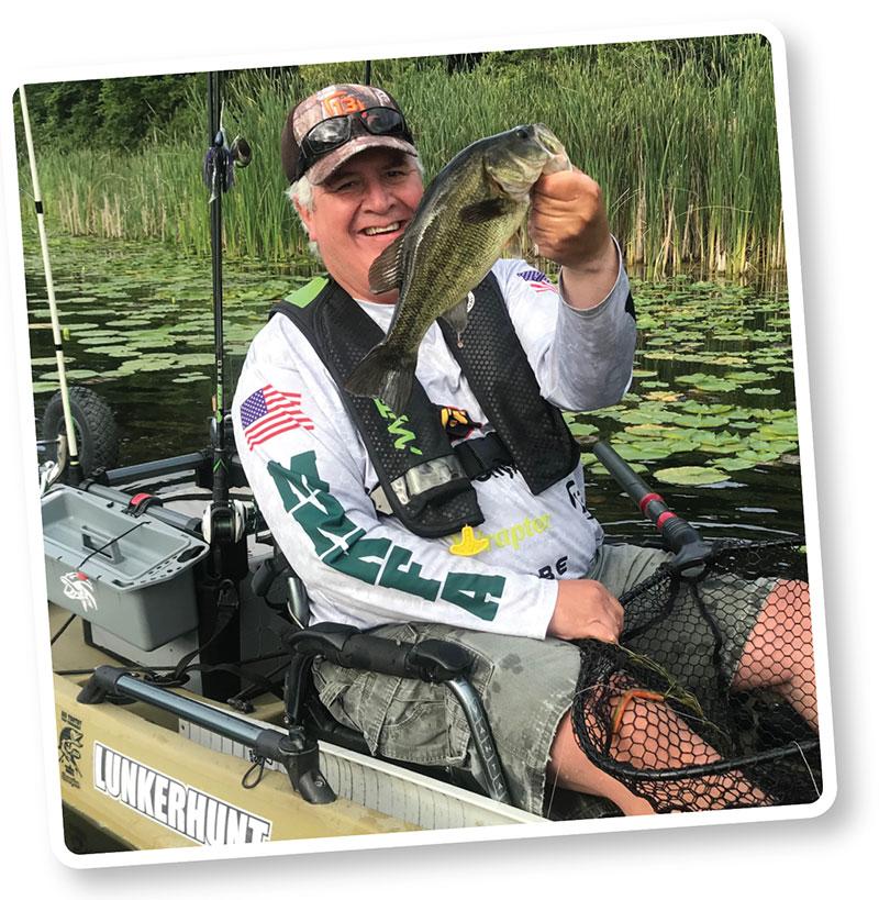 Ron Strauss In Fishing Kayak