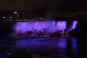 Niagara Falls turns purple for pancreatic cancer awareness day.