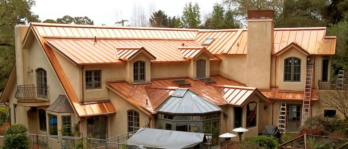 Copper Metal Roof Panels