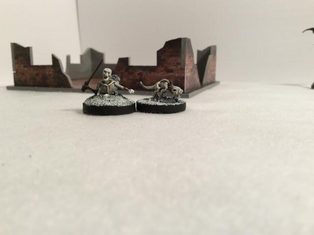Mantic Skeleton Miniatures - painted 28mm figures
