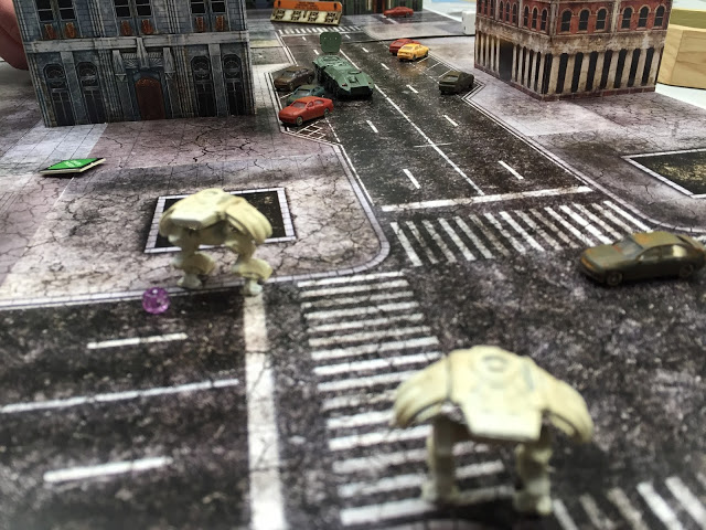 PHR Walkers vs UCM Command vehicle