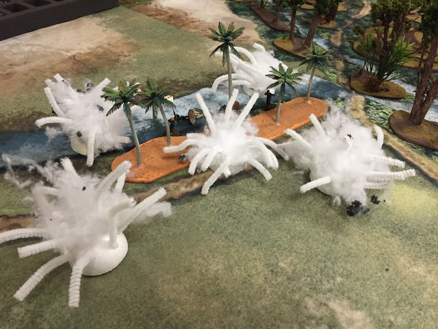 Helicopter bombardment markers for Vietnam miniatures Wargaming.
