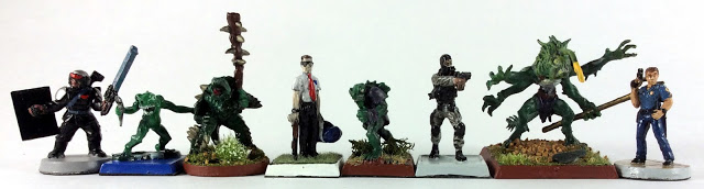 Scale Comparison Spike Shell Warrior and Tiik Baron to RAFM, GW and ArmourCast Miniatures