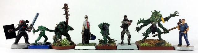 Scale Comparison shot RAFM Deep Ones to GW, Reaper Miniatures, RAFM Miniatures and ArmorCast Miniatures