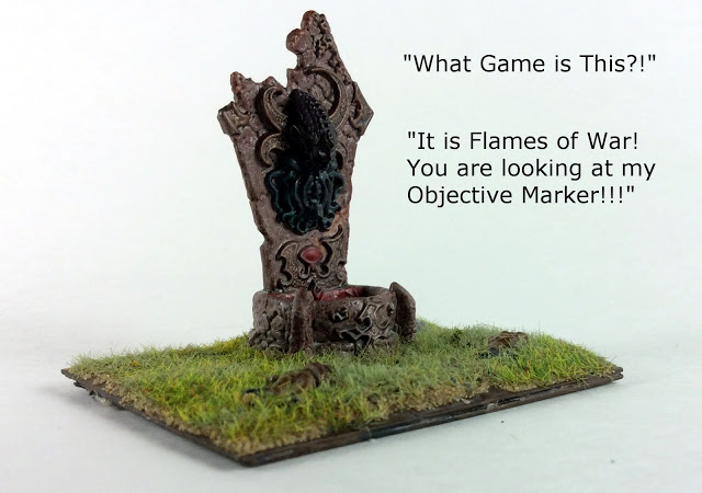 Cthulhu Based Flames of War Objective Marker (15mm)