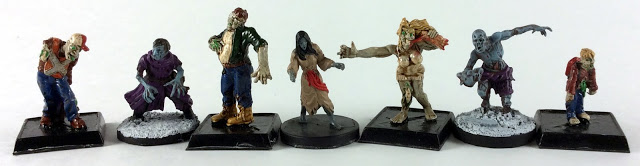Miniature Zombie Size Comparison of RAFM to Mantic Games to Dungeons and Dragons Miniatures