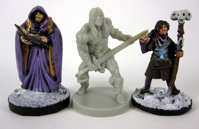 Scale Comparison of the new Conan Board Game Miniatures