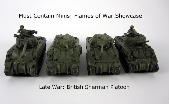 4 British Sherman Tanks