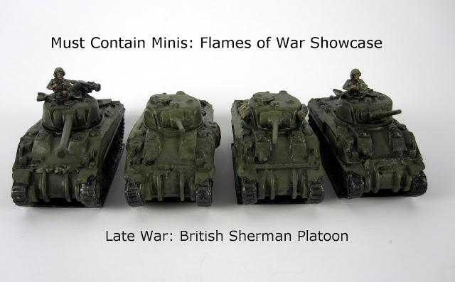 Showcase: British Sherman Platoon (Late War) for Flames of War