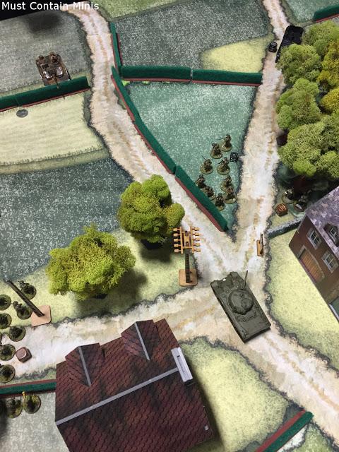 A Sherman Enters the Battle