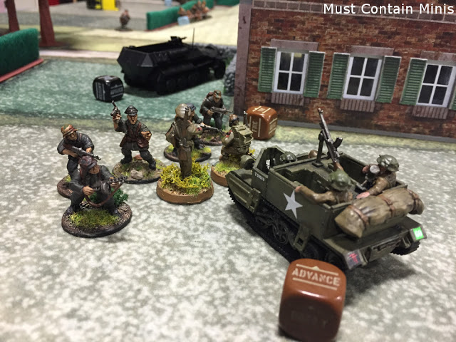 Cigar Box Battle Mats and PlastCraft Games Houses Terrain on Bolt Action 28mm gaming table