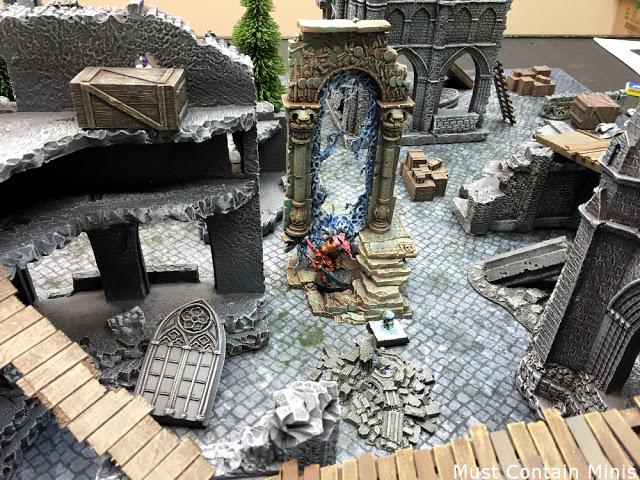 Terrain setup for Frostgrave