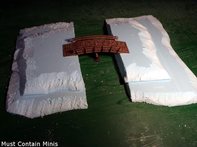 Prepping a hill for a battle mat