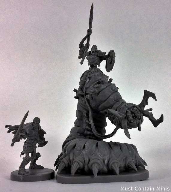 Looking at miniatures from Runewars - Skeleton Warrior and Carrion Lancer