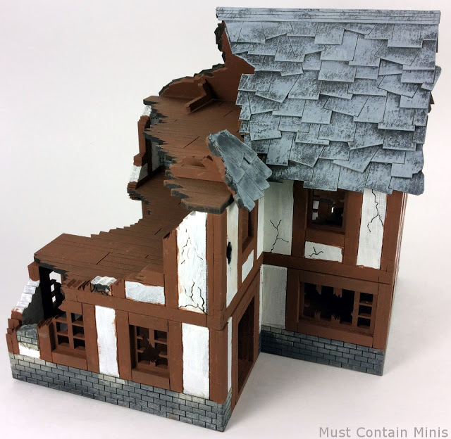 MDF Terrain Review: Normand House in Ruins by XOLK
