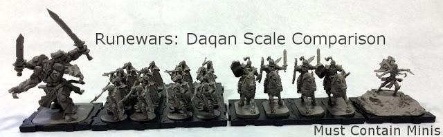 The Daqan (Human) models in the Runewars Starter Set