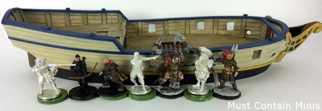 Scale Comparison of Miniatures - Blood and Plunder Pirates to Conan, North Star and Reaper