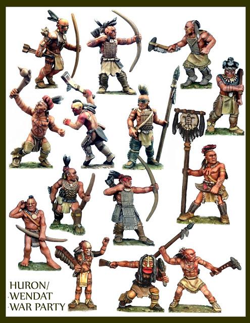 Miniature Huron Warriors