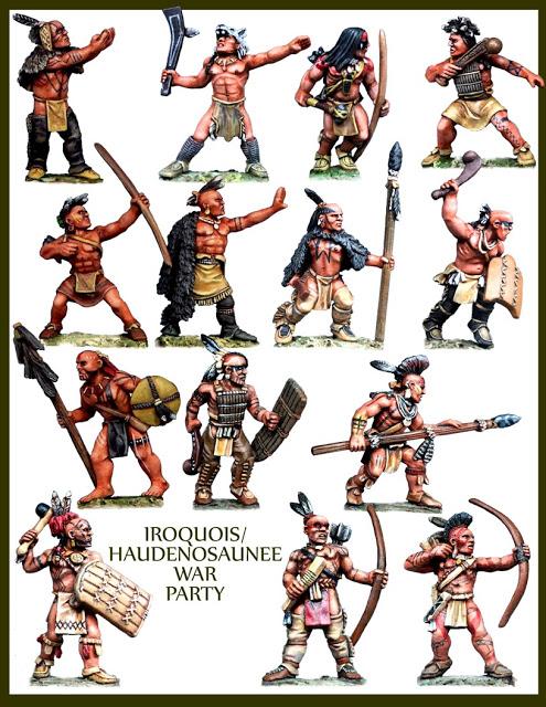 Miniature Iroquois Warriors