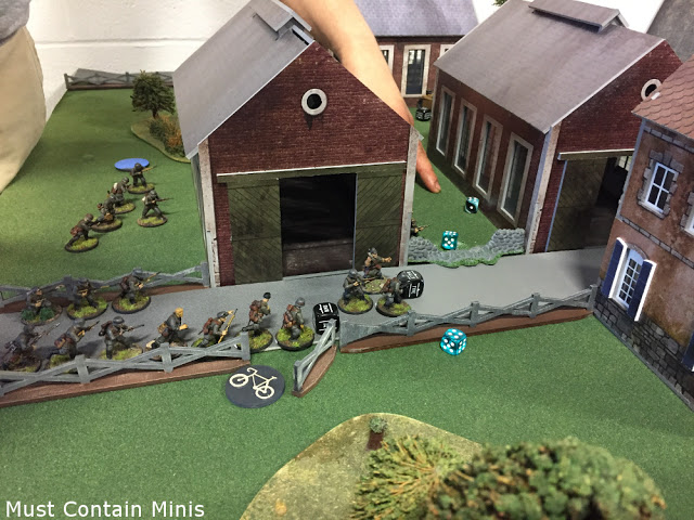 Placing the German troops in Bolt Action