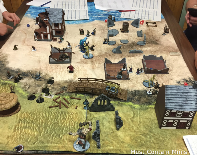 A great game of Frostgrave set on a beach.