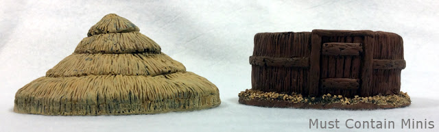Six Squared Studios 28mm Round Primitive Hut. 28mm painted terrain
