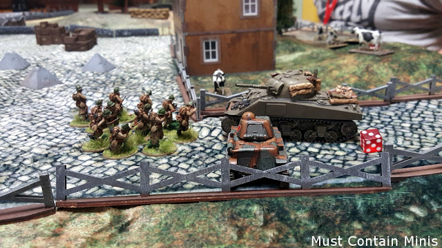 R35 vs Sherman - Bolt Action Battle Report