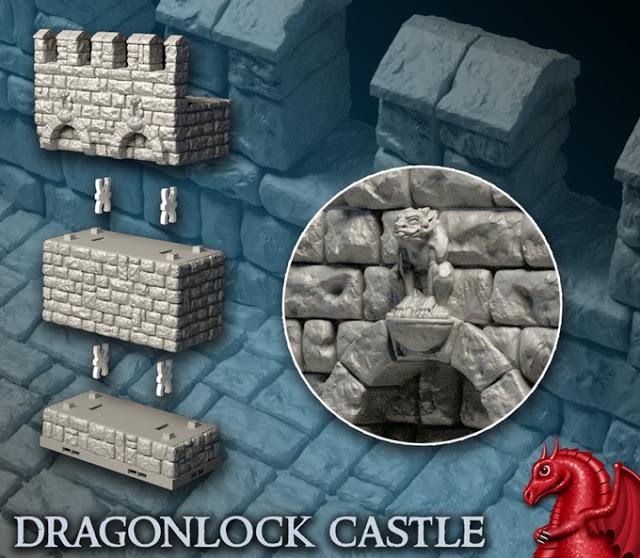 3D Printed Terrain – DRAGONLOCK 3 Kickstarter