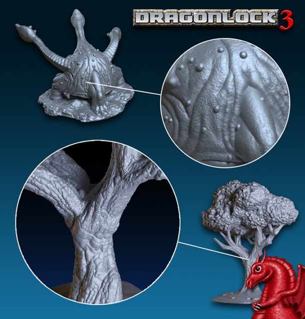 Close up details in 3D printer models by Fat Dragon Games