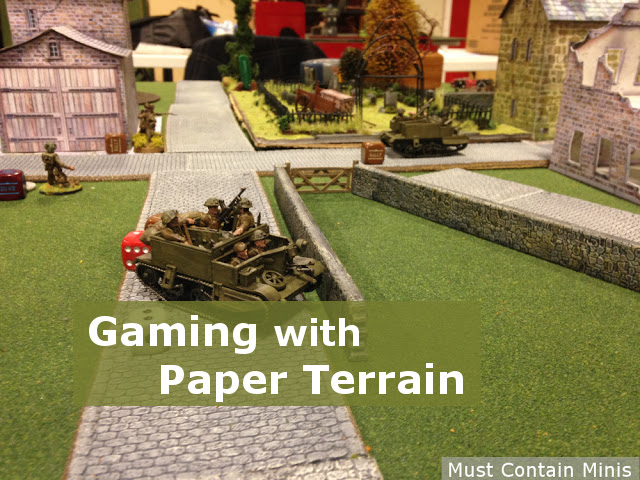 Gaming with Paper Terrain