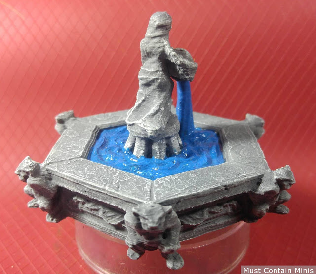 Review: 3D Printed Fountain from Fat Dragon Games Village Market STL File