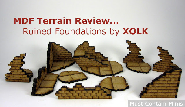 MDF Terrain Review: Ruined Foundations by XOLK