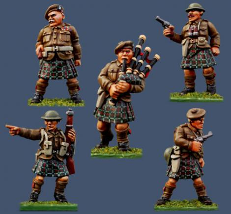Pulp Figures Highland Infantry Command Miniatures