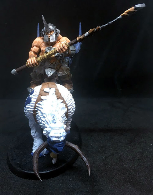 Ogor Polearm Soldier on a Mount
