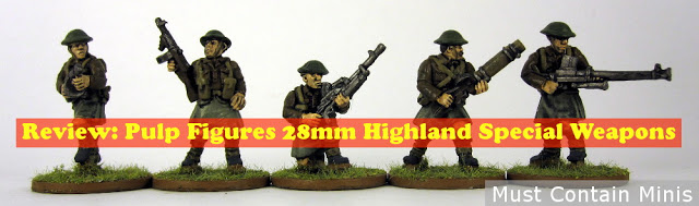 Review: Highland Special Weapons by Pulp Figures (Alternative 28mm WW2 Miniatures)