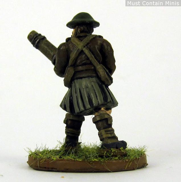 British Soldier with a Lewis Machine Gun