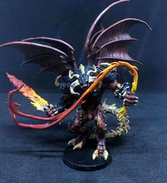 Painted Balrog Hellspawn Miniature - Sword & Sorcery Board Game