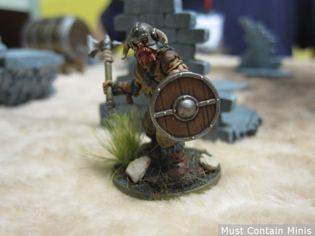 Frostgrave Barbarian with warhammer and shield - Osprey Games - North Star Military Figures