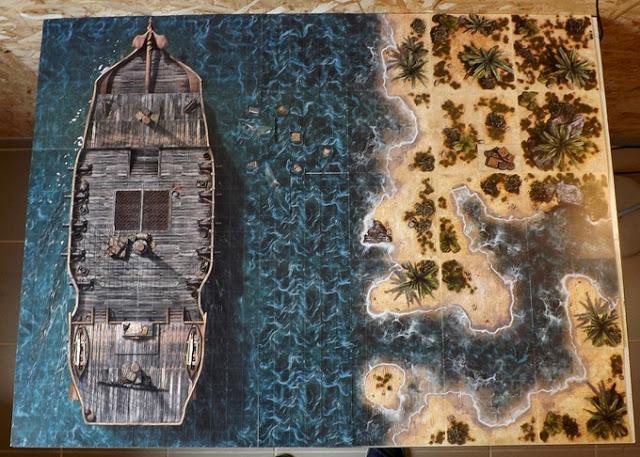 Gaming Tiles for Ghost Archipelago or Blood & Plunder