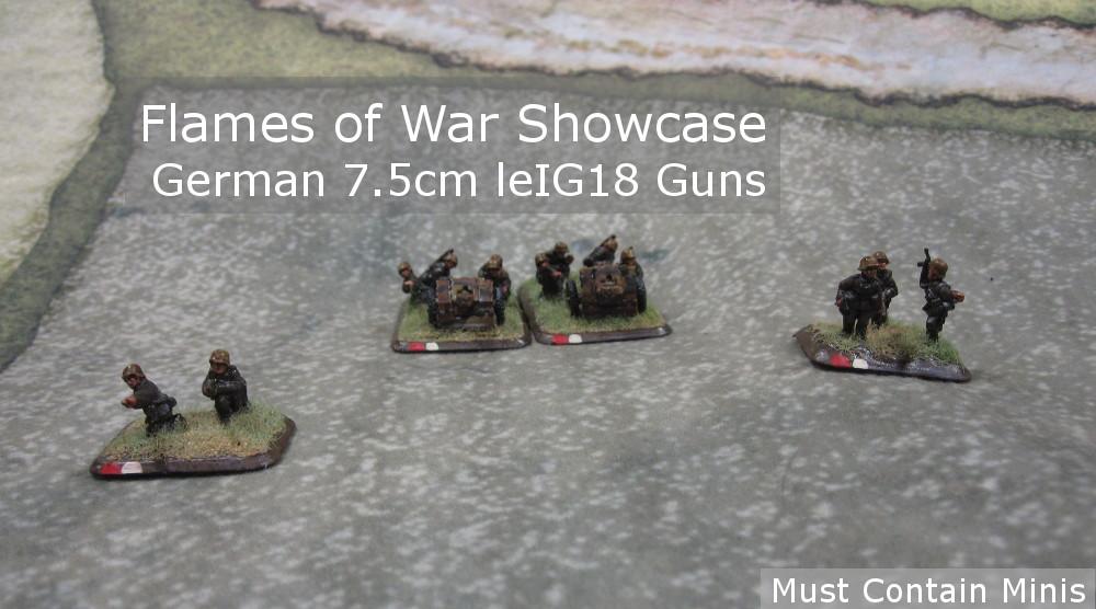 Showcase: 7.5cm leIG18 Guns for Flames of War