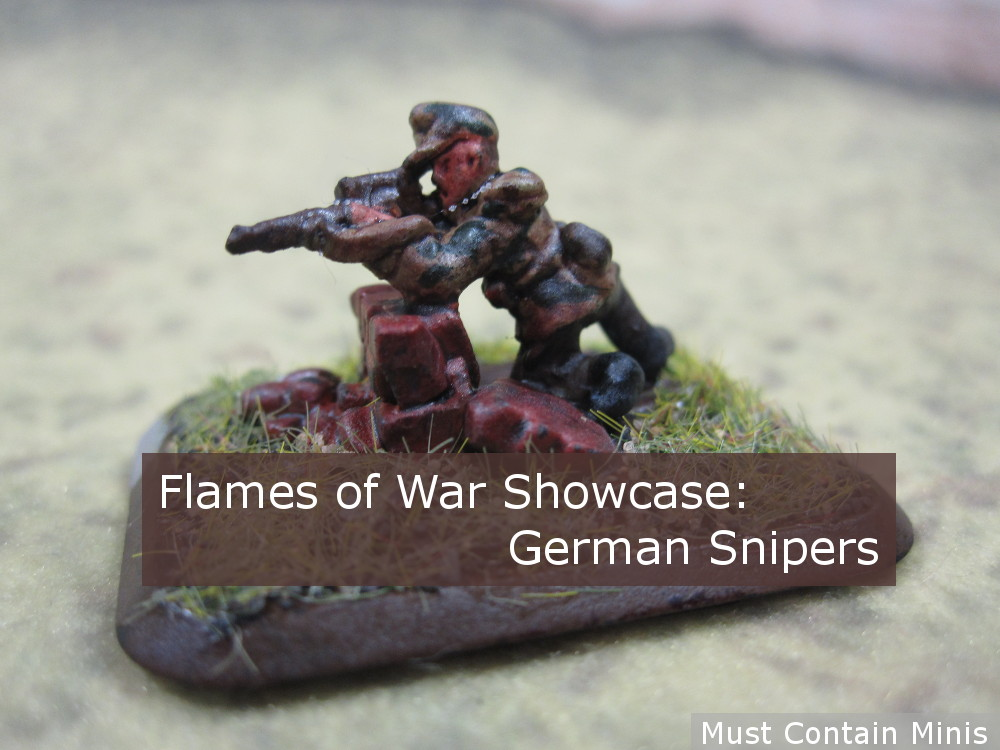 Showcase: German Snipers for Flames of War (15mm WW2)